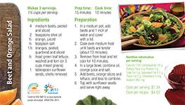 Beet and Orange Salad Recipe Card in English