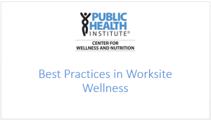Worksite Wellness Webinar