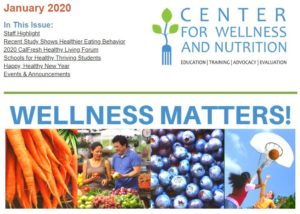 January 2020 Wellness Matters! snippet