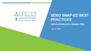 SERO SNAP-Ed Best Practices: Populations with Disabilities image